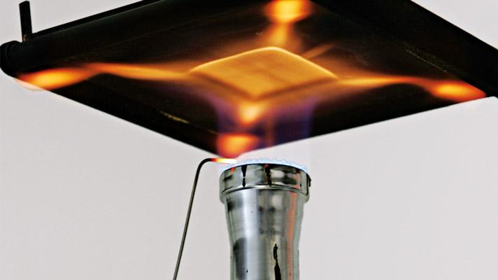 Heat transfer flame